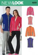 6251 New Look Pattern: Misses' and Men's Jacket or Waistcoat